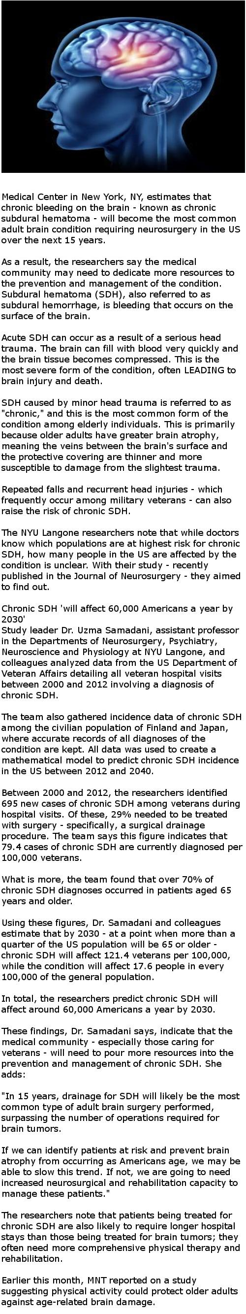 Study warns of increasing incidence of brain bleeds in US population over next 15 years